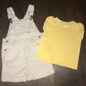 4/$30 Old Navy Overalls Cherokee T-shirt Bundle